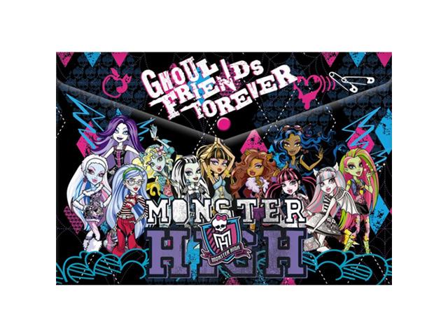 "Папка-конверт на кнопке А4 ""Академия Холдинг. Monster High"""