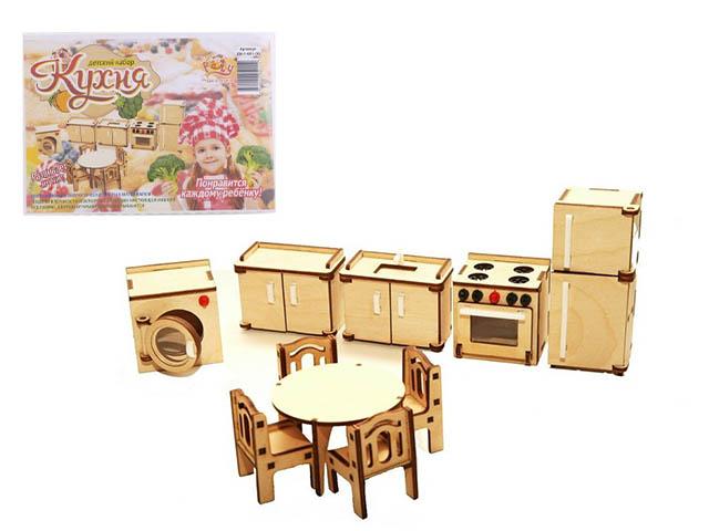 """Конструктор из дерева """"Чудо игрушки. Кухня"""", в коробке"""