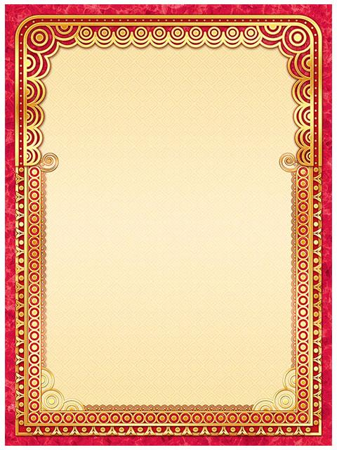 Бланк Без надписи А4, фольга, красная рамка
