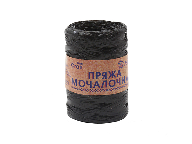 Пряжа мочалочная черный 50гр. 200м. (100% полипропилен)