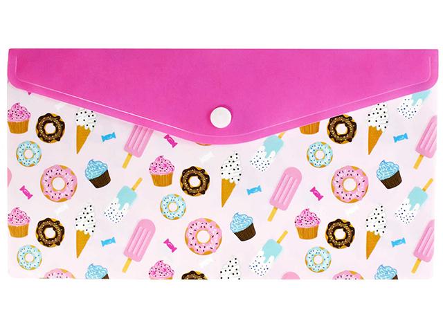"Папка-конверт на кнопке А5 Феникс+ ""Мороженое"""