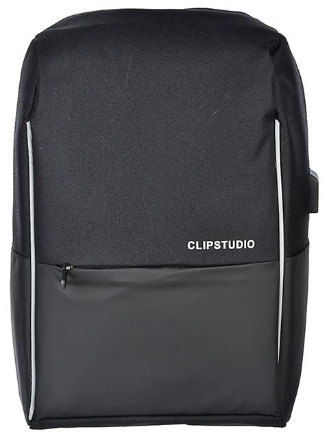 Рюкзак подростковый ClipStudio, 45х32х15 см, 1 отделение, USB-выход, черный