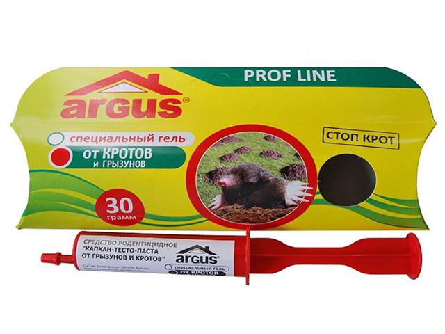 Гель от кротов и грызунов ARGUS 30г.