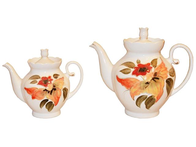 "Чайная пара ""Нарцисс"" 2 чайника, белый"
