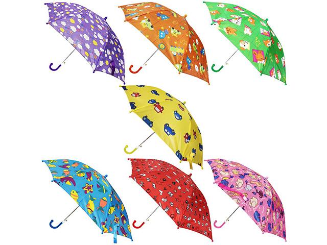 """Зонт-трость детский """"Цветной"""" 45 см"""