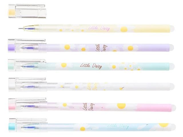 """Ручка """"пиши-стирай"""" гелевая Basir """"Ромашка"""" 0,5 мм, корпус с рисунком, синяя"""