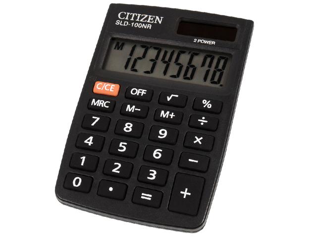 Калькулятор карманный CITIZEN SLD-100NR 8 разр. двойное питание