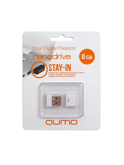 Флэш-диск QUMO 08 Gb Nano White