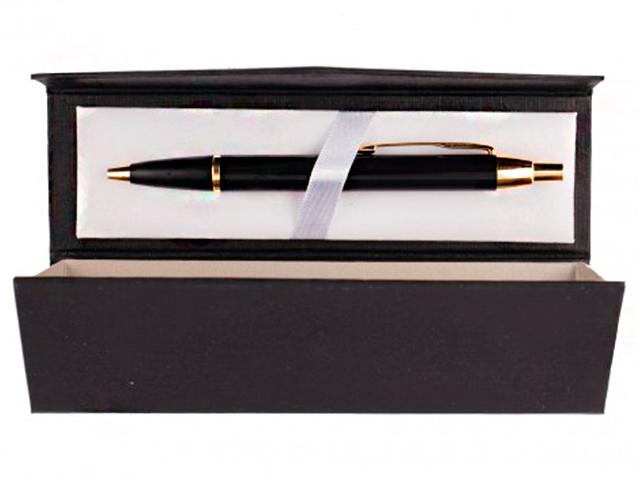 """Ручка шариковая автоматическая Mazari """"Oslo"""", 0,7 мм, черный/золото, синяя, в подарочной упаковке"""