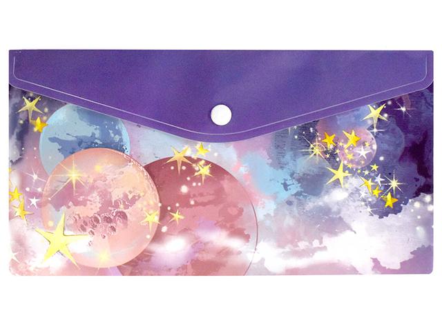 """Папка-конверт на кнопке А5 Феникс+ """"Космос"""""""