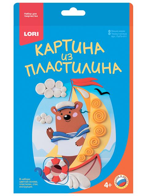 "Набор для детского творчества ""Картина из пластилина. Мишка моряк"""