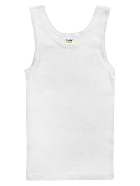 """Майка для девочки """"Белый К1077"""" размер/рост : 52/98-104"""