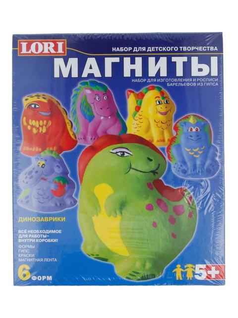 """Набор для лепки """"Магниты-Динозаврики"""" (формы, гипс, краски, магнитная лента)"""