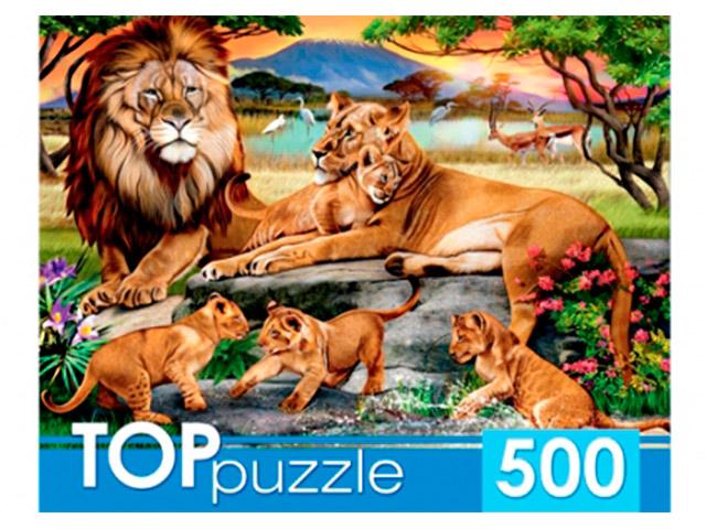 "Пазлы 500 элементов 485х345 Рыжий кот ""Toppuzzle. Семейство львов"""