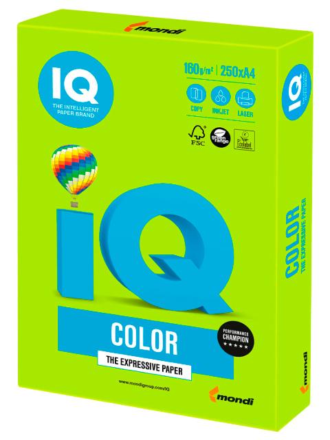 "Бумага IQ Color А4 160 г/кв. м 250 листов ""Зеленая липа"""