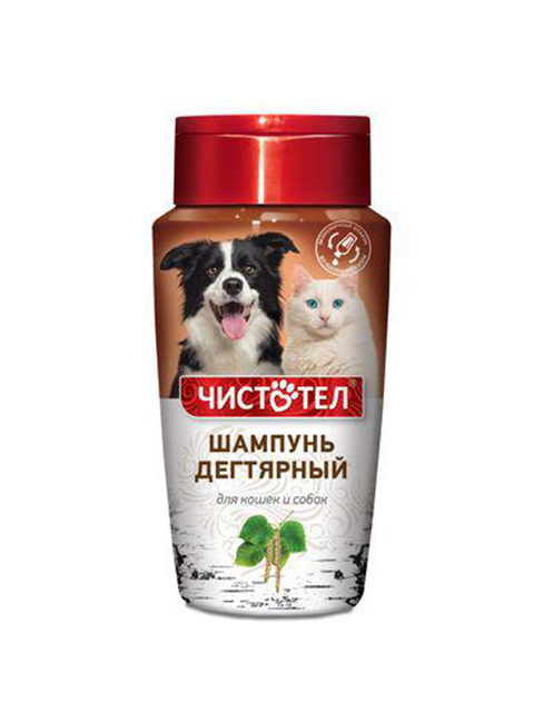 Чистотел Шампунь дегтярный 220 мл. для кошек и собак