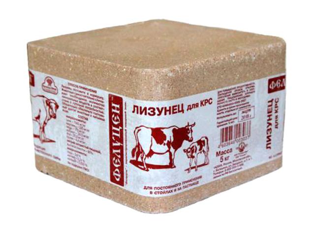 Фелуцен солевой лизунец без минералов для КРС (5 кг)