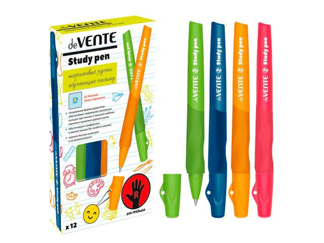 """Ручка шариковая """"deVENTE. Study"""" 0,7мм., обучающая письму, для правшей, синяя"""