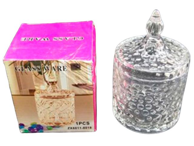 """Сахарница с крышкой """"Glass ware"""" 10х15см, в подарочной упаковке, стекло"""