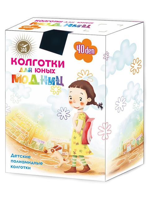 """Колготки детские ЭРА """"Для юных Модниц"""" 40den черный 10-12"""