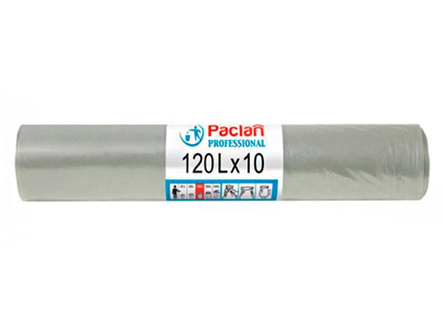 "Мешок для мусора 120 л. 10 шт. ""Paclan. Professional"" серые, 25 мкм"