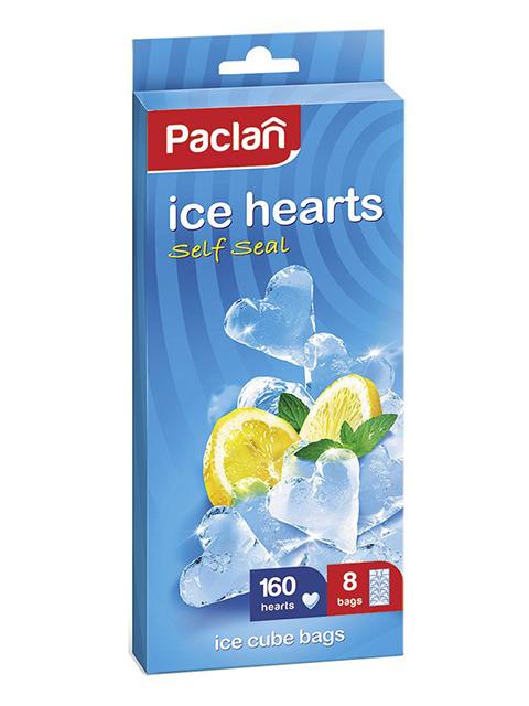 "Мешочки для льда ""Paclan.Сердечки"" 20шт. в упак."
