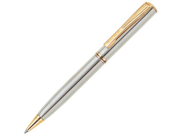 """Ручка шариковая с поворотным механизмом Pierre Cardin """"ЕСО"""" корпус стальной, в подарочной упаковке"""