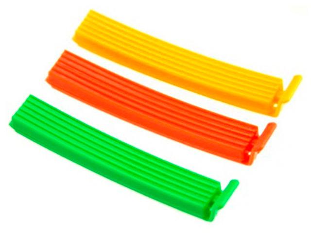 Набор зажимов для пакетов 6шт, пластик, 10см, 6 цветов
