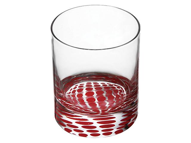 """Набор стаканов """"Ада. Красный горошек"""" 300мл., низкие (3шт. в упак)"""