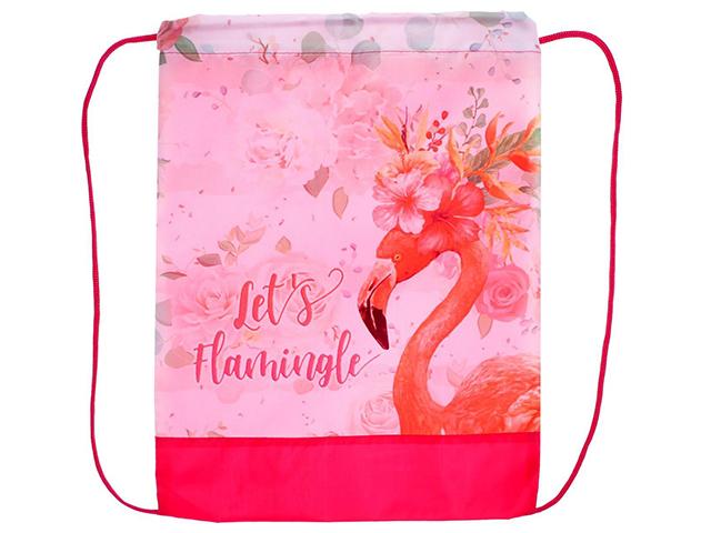 """Сумка для обуви Пчёлка """"Фламинго в цветах"""""""