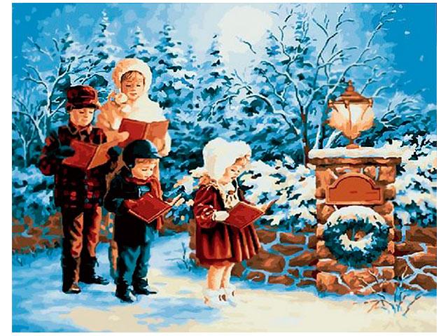 """Картина по номерам PaintBoy """"Рождественский хор"""" 40*50см"""