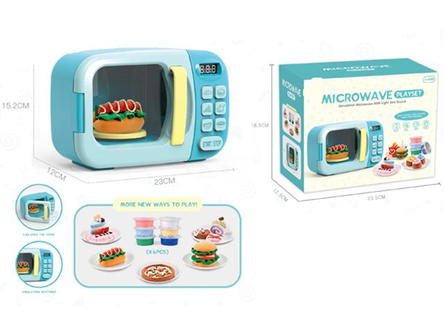 """Игрушка """"Микроволновка с едой"""" 23,5х18,5 см (2*АА не в компл,в коробке)"""