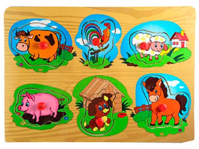 """Пазлы деревянные Рыжий кот """"Мои домашние животные"""" 29,5х21,5 см"""