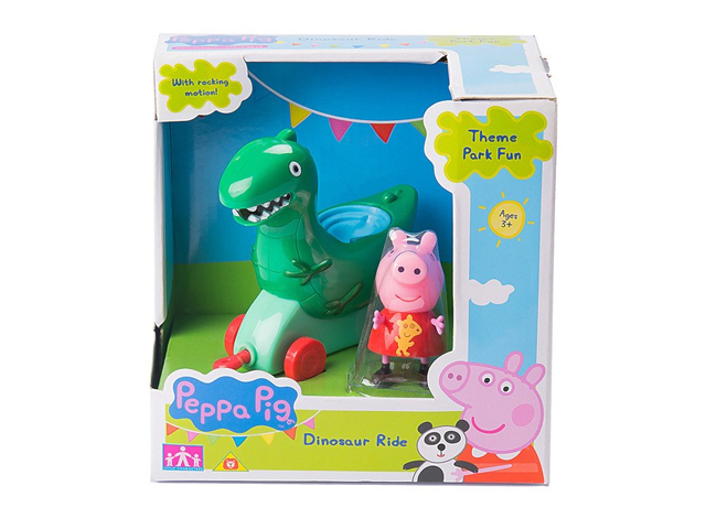 "Игрушка ""Каталка Динозавр. Peppa Pig"" с фигуркой"