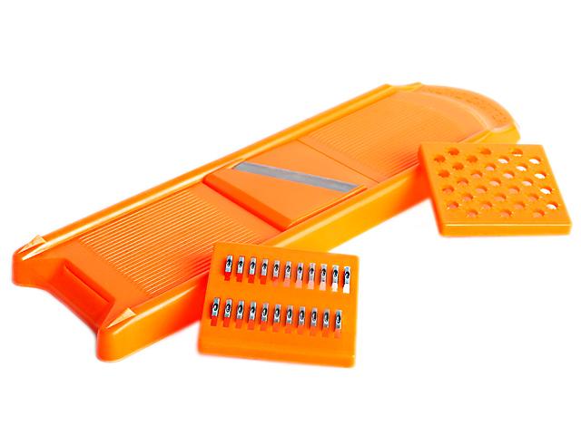 Овощерезка малая оранжевая 3 ножа полистирол