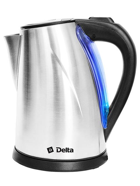 Чайник электрический Delta DL-1033, 2 л, 1800 Вт, нержавеющая сталь