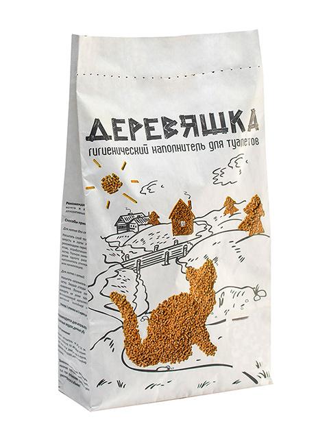"""Наполнитель для кошачьих туалетов """"Деревяшка"""" 7,5 кг (21л)"""