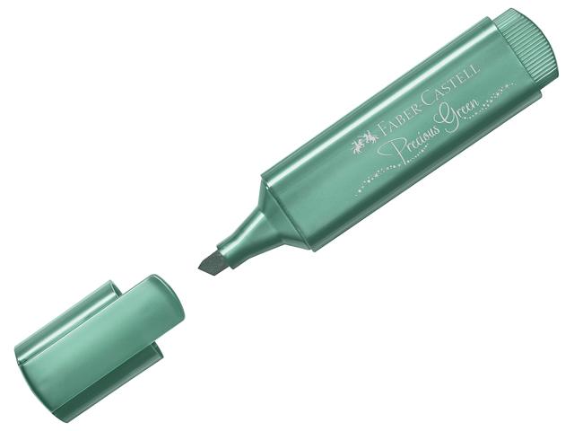 """Текстовыделитель Faber-Castell """"TL 46"""" 1-5 мм, скошенный, металлик зеленый"""