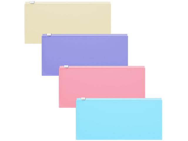 "Папка-конверт на молнии Erich Krause ""Pastel Travel"", 255х130мм, 180мкм, ассорти"