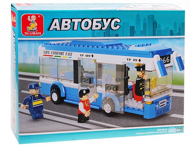 """Конструктор SLUBAN """"Автобус. Одноэтажный автобус"""" 235 деталей"""
