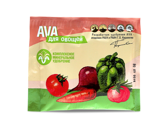 AVA комплексное удобрение для овощей, 30 гр