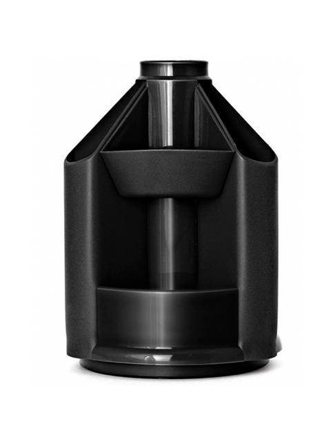 """Подставка-органайзер СТАММ """"Mini Desk"""" для канц. принадлежностей вращающаяся, черная"""