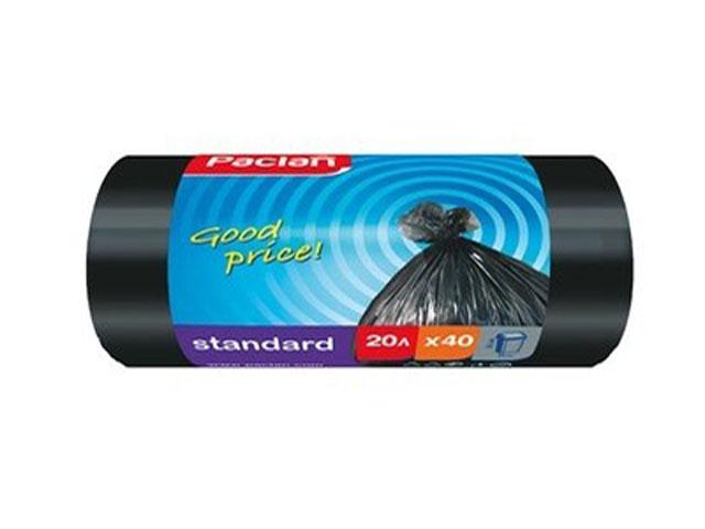"""Мешок для мусора 20 л. 40 шт. """"Paclan. Standart"""", 7,3 мкм"""
