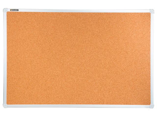 Доска пробковая BRAUBERG для объявлений, 60х90 см, алюминиевая рамка, 231712