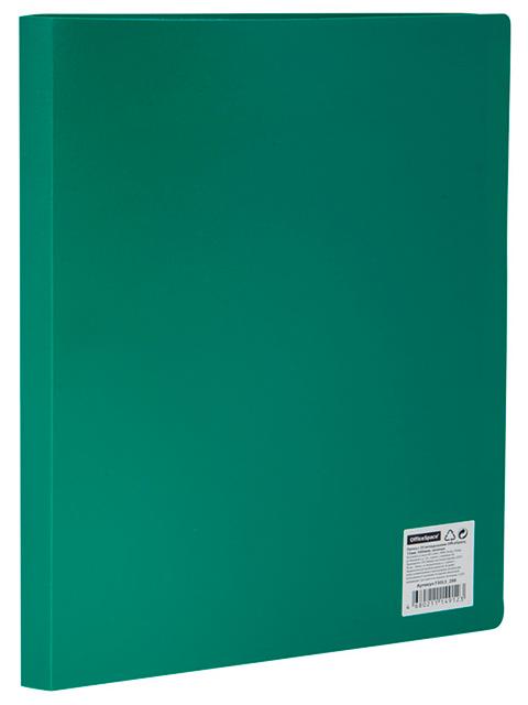 Папка OfficeSpace 30 вкладышей, 21 мм, 400 мкм, зеленая