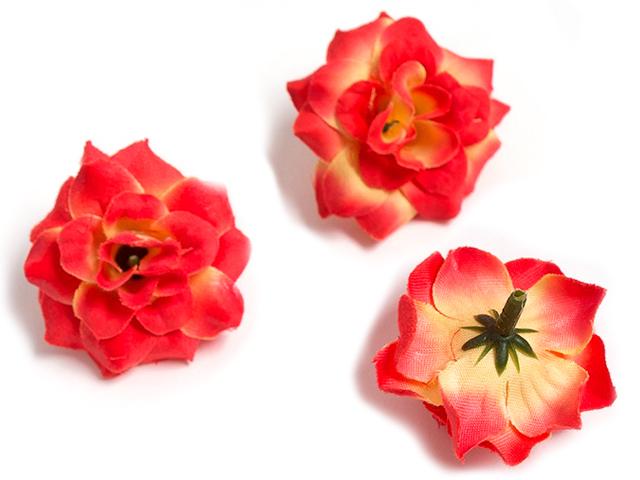 """Головки цветов """"Розочка"""" 4,5см, красный/светло-желтый (цена за 1шт)"""