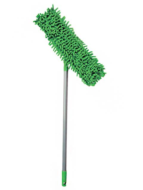 """Швабра для мытья пола флеттер """"Умничка"""" микрофибра-лапша, телескоп. ручка 130см"""