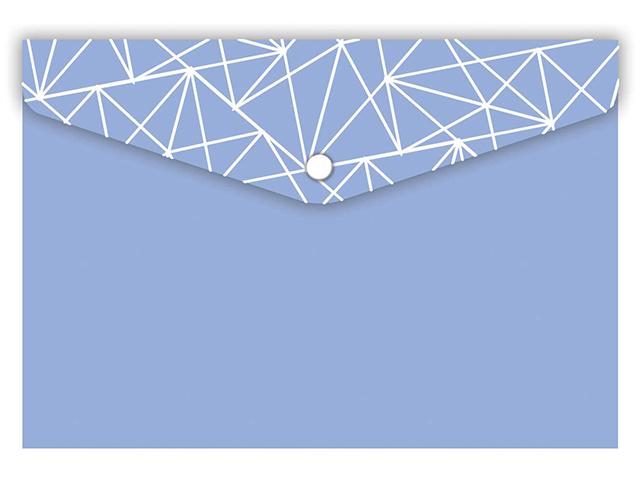 """Папка-конверт на кнопке 10.5x7.4см """"Феникс+. Голубая"""""""