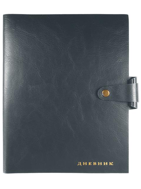 """Дневник универсальный deVENTE """"Favorite"""" мягкая обложка, искусственная кожа, кремовая бумага, на кнопке, серый"""