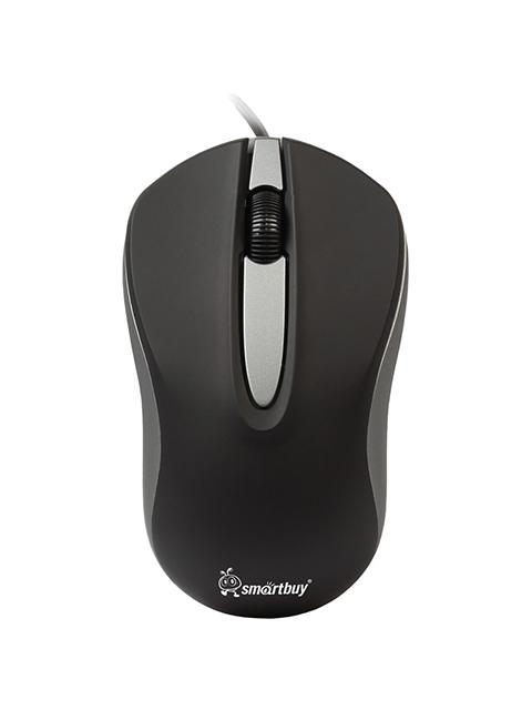 Мышь Smart Buy 329 ONE, USB 2btn+Roll черный/серый